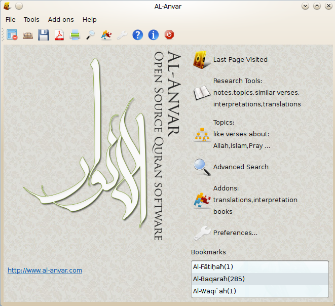 Al-Anvar: Quran Research Software download | SourceForge net