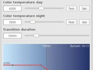 Change color temperature day/night  (inspired by f.lux)
