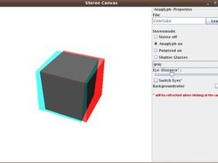 GUI with a colorcube in red-cayn