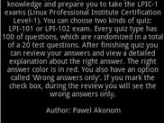 About LPI Quiz