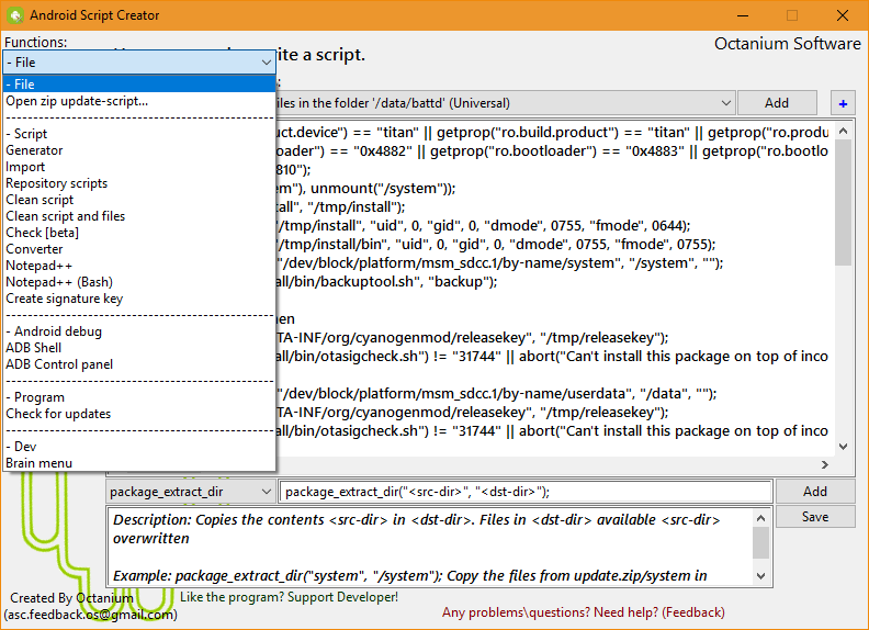 Android Script Creator download | SourceForge net