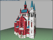 Wien Fuenfhaeuserkirche, AnkerWorld model file 2013