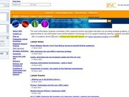 JISC homepage with annotations