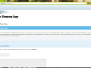 This is the home page of the Anonymous Compliance Reporting site. Users enter complaints in this interface.