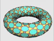 Uniform tiling mapped onto a torus