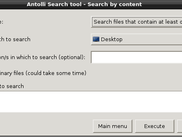 Search by content menu