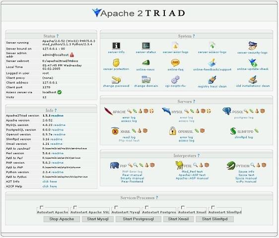 PHPTRIAD 2.0 TÉLÉCHARGER