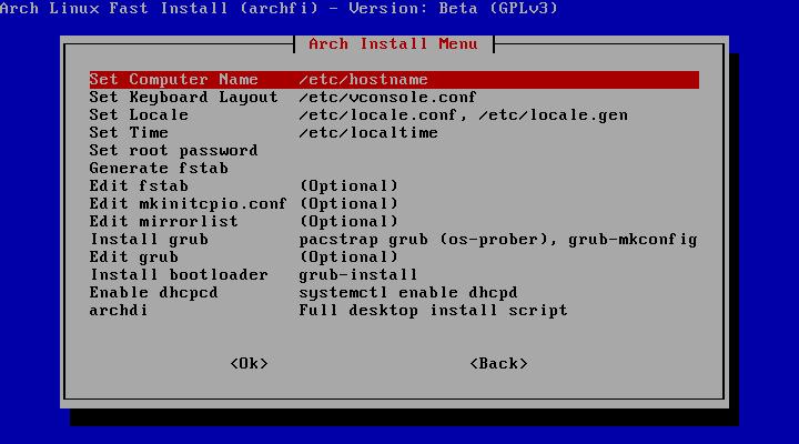 Archfi screenshot