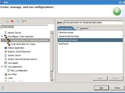 Code Generator integrated into Eclipse as a RunConfiguration