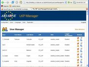 The LKP manager (Ariadne Web Services Layer)