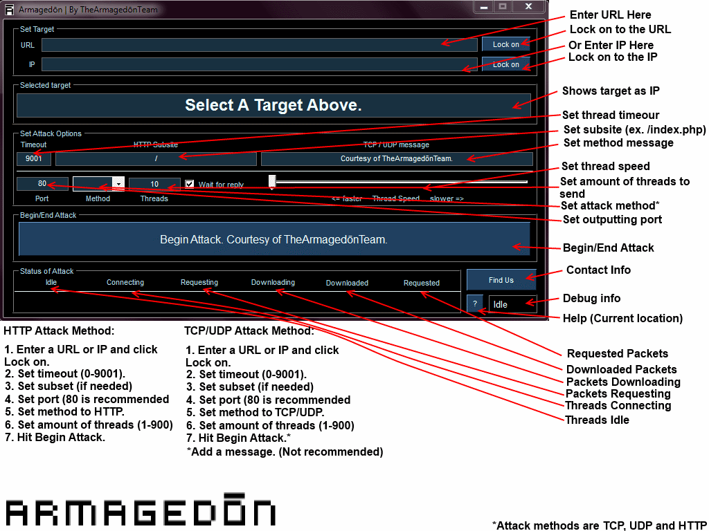 Armagedōn-LOIC download | SourceForge net