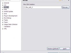 01 - Set the path of the Adobe Flex SDK 3 in the preference.