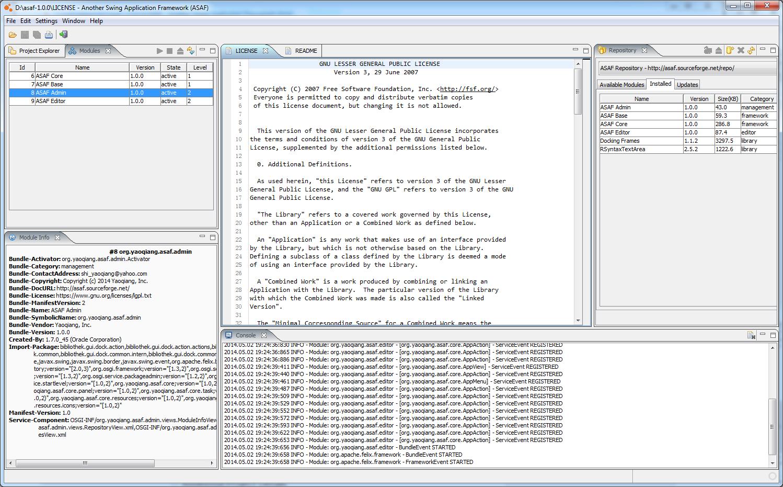 ASAF - Another Swing App Framework download | SourceForge net