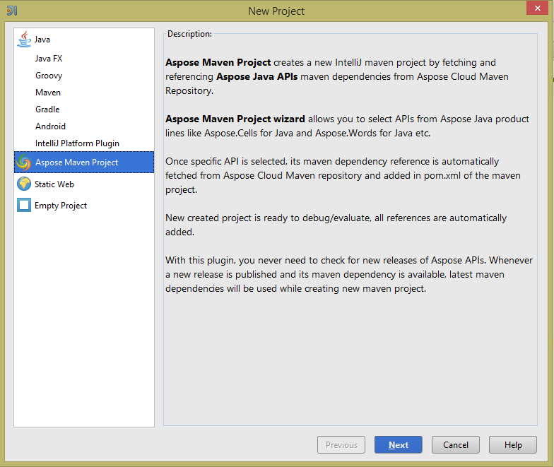 Aspose Maven for JetBrains download | SourceForge net