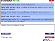Website Customer Chat Screen