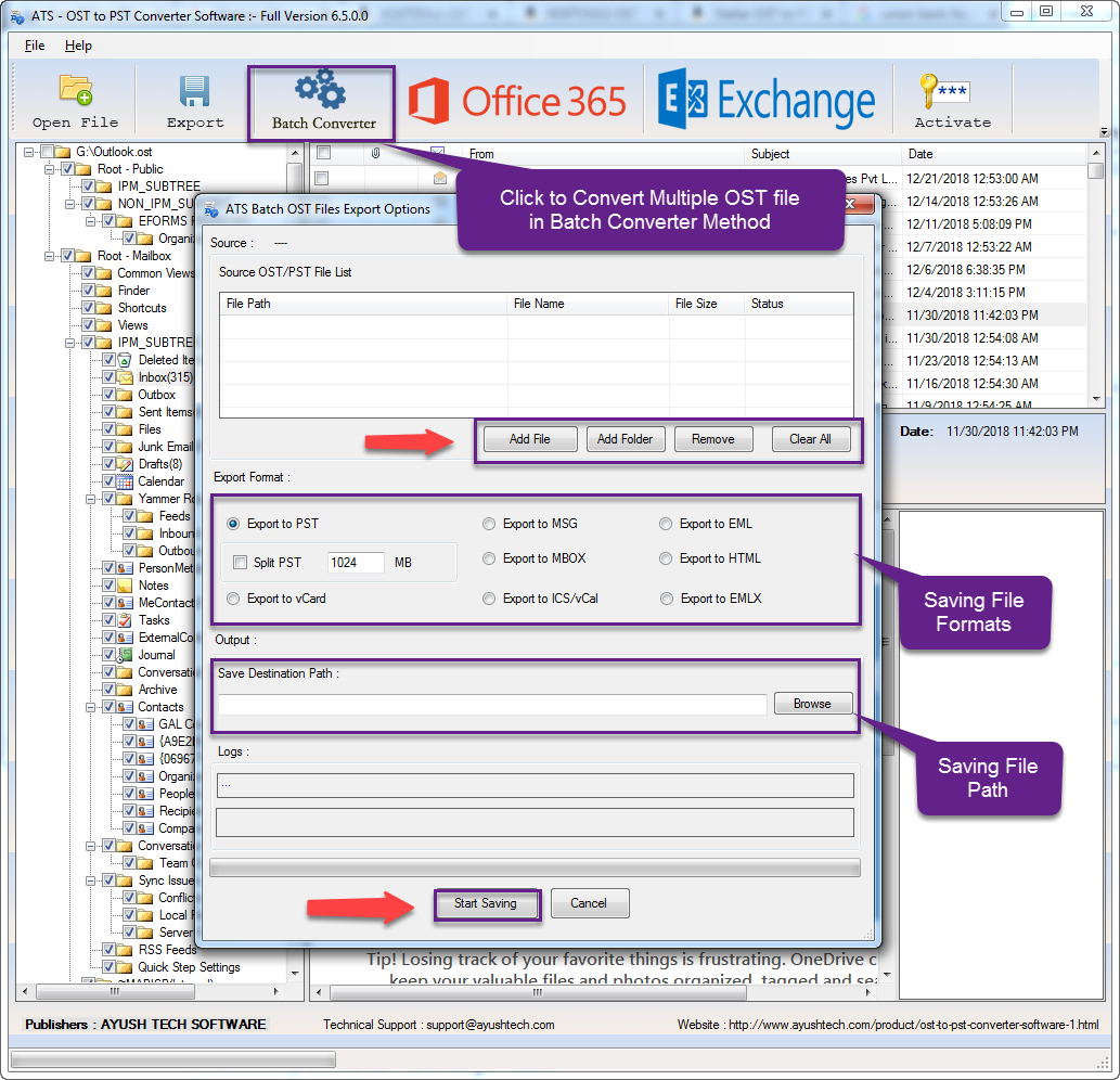 ATS OST to PST Converter vs  Exchange Recovery Software Comparison