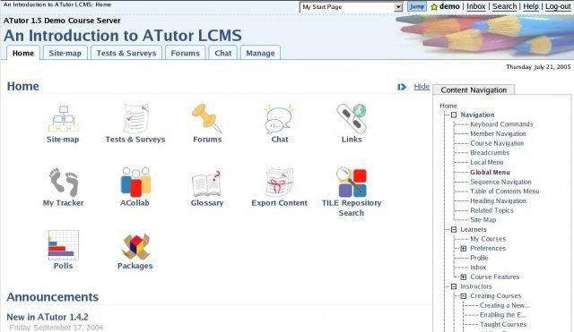 Atutor Learning Management System Download Sourceforge Net