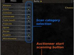 Upcoming category selection and the new scan button