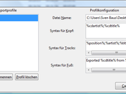 Export Profile Window 1.0.3