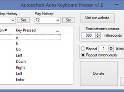 Auto Keyboard Presser download | SourceForge net