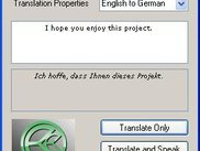 AutoLinguist for Windows - English to German translation