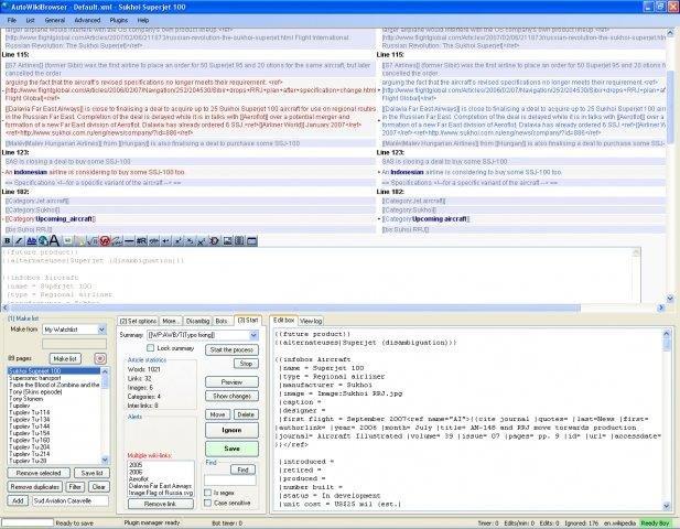 Full AutoWikiBrowser screenshot