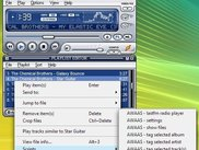 access AWAAS functions via the Winamp playlist