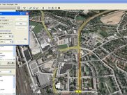 B7 GEPS in action. Perspectiv viewing with street maps.