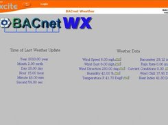 BACnet weather data used in a Trend IQ controller via BACnet
