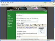 The interface for editing an article in BananaPanel.