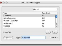Editing of transaction types