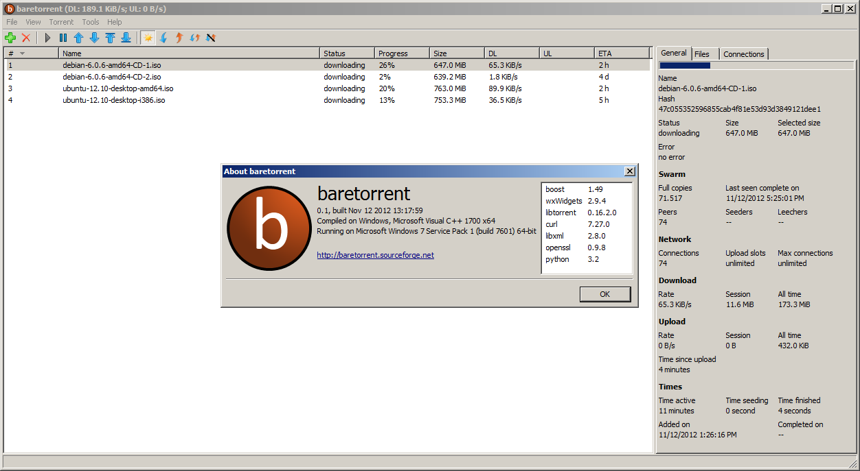 baretorrent download | SourceForge net