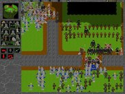 "Two humans players are fighting in ""Two player battle""-map."