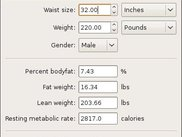 BBCalc 0.8 - Body Fat Estimator