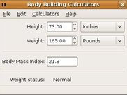BBCalc 0.8 - Body Mass Index for non-athletes