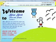 The Welcome screen of Blue Bird Slim and Simple version running under Windows 7