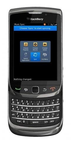 Blackberry Client (Main Screen)