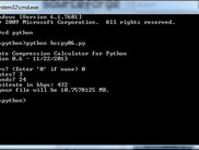 BCCpy on Windows 7 Command Prompt