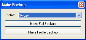 Backup Window Windows XP