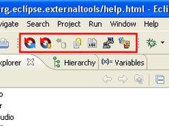 The BeyondCVS icons in the main Eclipse toolbar