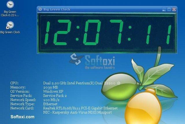 Big Green Clock download | SourceForge net