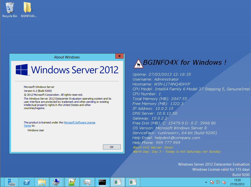 BGINFO4X - BGINFO for X and for Windows! download | SourceForge net