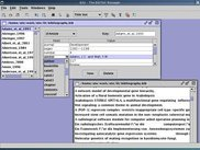 Bibi's main window with entry editor and title list view