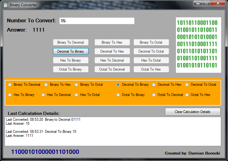Binary Converter NET download | SourceForge net