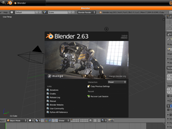 Blender 2.63 open in Blender-boot 1 beta 2