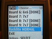 Menu shown on Nokia 6230i