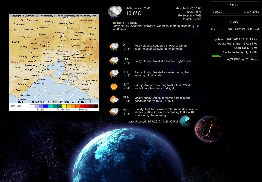 bomWeather Skin for Rainmeter download | SourceForge net