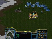 Protoss gathering minerals