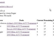 Current results of an ACC Pool