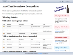 Brew Competition Online Entry & Mgmt  download | SourceForge net